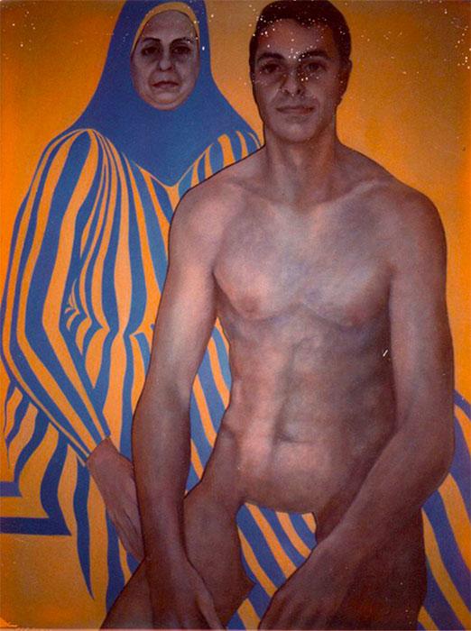 """Ave Mamma Rome,"" 1960s, acrylic on canvas."