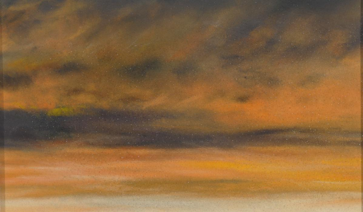 """""""Skyscape 9/24/07,"""" 2007, pastel on sanded paper, 3 x 5 inches"""