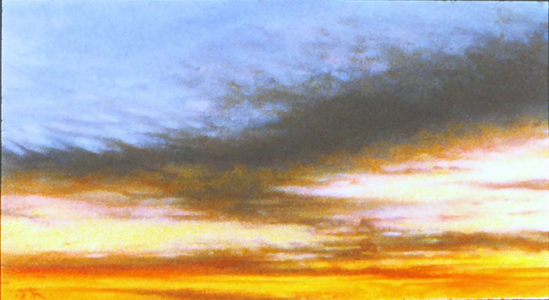 """""""Skyscape,"""" c. 2007-2009, pastel on sanded paper. 7.5 x 11 inches."""
