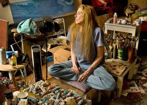 Manon in her studio. Photo © Tom Wolff.