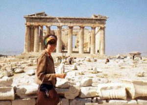 Manon Cleary in Greece, 1968