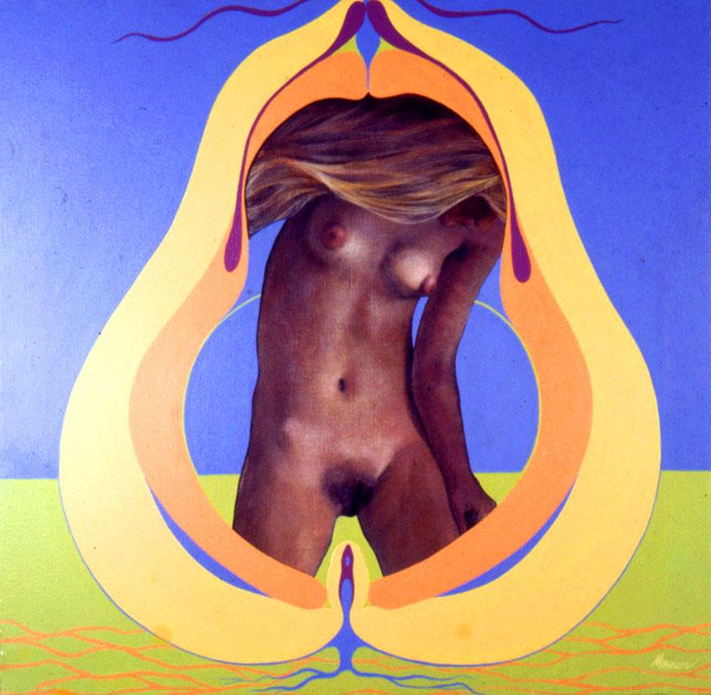 """Pear,"" 1970, acrylic on canvas. 24 x 24 inches."