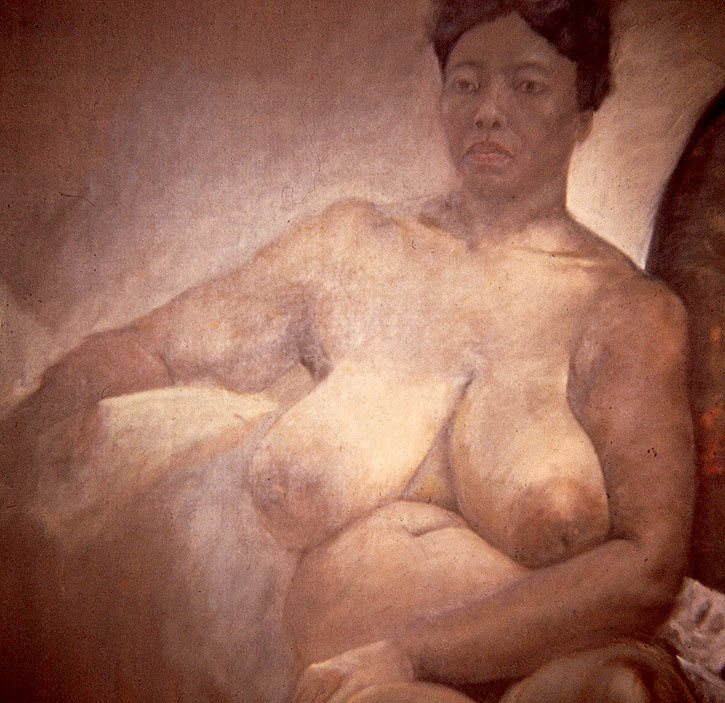 """Woman Model,"" 1966, oil on canvas. 24 x 24 inches. Estate of Manon Cleary."